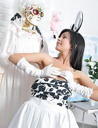Mark-up hot feathery bunny